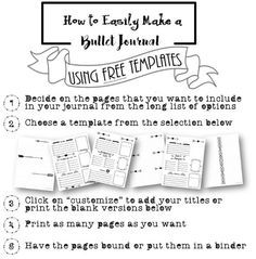 Free Bullet Journal Printables (includes plain dotted pages and dotted layouts)