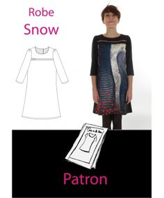 "Patron robe ""Snow"""