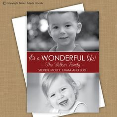 Photo Christmas Card It's a wonderful life two by brownpapergoods, $15.00