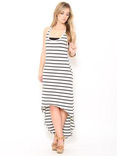 Striped High Low Maxi #Dress