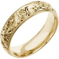 Wouldn't want a gold wedding band, but love the scroll work :)