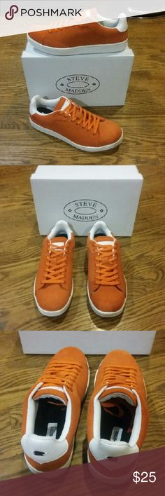 Steve Madden Suede Sneakers Brand New in Box  Never worn.  Never tried on. Men's Size 9 Purchased for $100.00 Steve Madden Shoes Sneakers