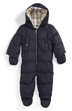 Burberry Quilted Down Snowsuit (Baby) available at #Nordstrom
