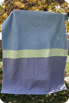 Back of diamond quilt by Cara {Me? A Mom?}, via Flickr