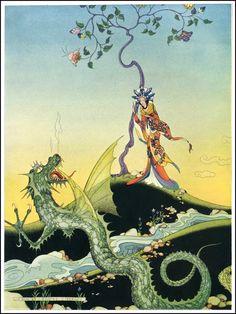 Virginia Frances Sterrett, illustrations for the Arabian Nights