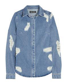 The Jean Shirt: House of Holland Distressed Denim Shirt / Garance Doré