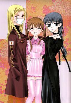 Hanajima, Tohru and Uotani, Fruits Basket