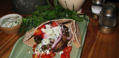 Grilled Lamb Burgers with Tzatziki Sauce