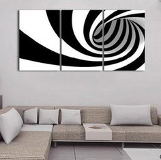 """Hand Painted Abstract Black White Oil Painting Modern Home Decor Office Wall Art Pictures Decorativos 3 Panel Canvas Paintings"" 3 Piece Canvas Art, White Canvas Art, 3 Piece Wall Art, Black And White Canvas, Black And White Painting, Abstract Canvas, Oil Painting On Canvas, Canvas Wall Art, Black White"