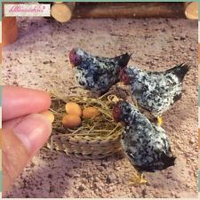 OOAK Handmade Miniature Realistic Hen Chicken  1:12 Scale Dollhouse by DLennmark