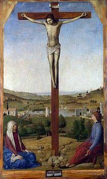 La Crocifissione è un dipinto olio su tavola di tiglio  di Antonello da Messina, datato al 1475 e conservato nella National Gallery di Londra.