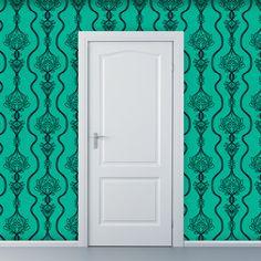 Removable Wallpaper  Lovely Lifeline in Teal  2 by WallpaperDolls, $90.00