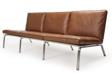 Cognac brown leather sofa from NORR 11 - loving it!