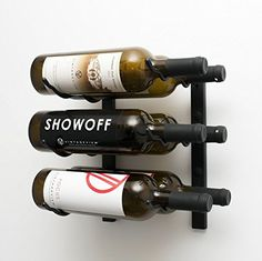 Wine Racks - VintageView WS12 1Foot 6 Bottle Wall Mounted Wine Rack in Satin Black 2 Rows Deep *** To view further for this item, visit the image link.