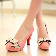 These pink bow heels are stunning!