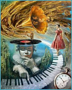 DUZO GRAFIK painting surreal 25 Absurdity Illusion Paintings by Michael Cheval - Master of Imagination Illusion Paintings, Illusion Art, Art Paintings, Painting Art, Music Painting, Surrealism Painting, Art Et Illustration, Inspiration Art, Fine Art