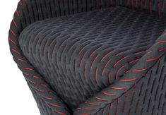 A compact lounge chair by Benjamin Hubert for Moroso that looks as if it has been wrapped in a padded textile, similar to how a cloak would wrap a body. Textiles, Chair Design, Furniture Design, Surface Design, Italian Furniture Brands, Car Interior Design, Look Retro, Car Upholstery, Fabric Manipulation