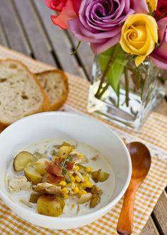 Chicken and Corn Chowder with Roasted Potato Recipe