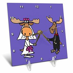 All Smiles Art Love - Funny Moose Bride and Groom Wedding Design - 6x6 Desk Clock (dc_200591_1) 3dRose http://www.amazon.com/dp/B00OMC2MGM/ref=cm_sw_r_pi_dp_Rsc4wb1NHS65D