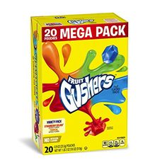 Grocery-Fruit Gushers Mega Pack Variety Pack, 20 Count -- Check out the image by…