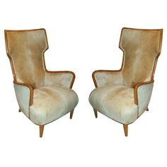 An Exceptional Pair Of Mid-Century Modern Chairs  Italy, c. 1950/1960