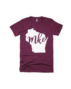 This Milwaukee (MKE) tee is a great gift for any Wisconsin-lover. An American Apparel tri-blend shirt, this top has everything you love about