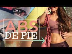Abdomen Plano en 5 minutos | Abdominales de pie para Reducir tu Abdomen - YouTube