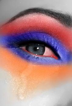 Armenian flag colours around the eyes