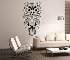 Owl Wall Decal Vinyl Sticker Art Decor Bedroom Design Mural interior design animals birds