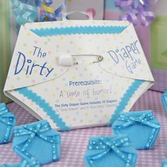 Blue Dirty Diaper Game - Boy Baby Shower Game - 10 diapers $7.99