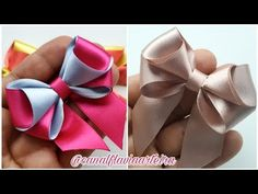 Diy Hair Bows, Making Hair Bows, Diy Bow, Diy Ribbon, Ribbon Hair, Baby Hair Accessories, Hair Bow Tutorial, How To Make Ribbon, Boutique Bows