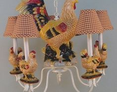 French Rooster Chandelier. A Country Classic And Our Most Popular Style!
