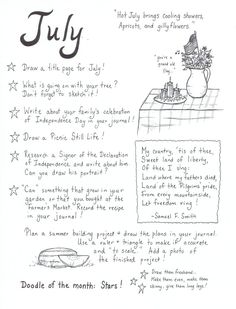 Book of Shadows:  #BOS Journal page ~ July.