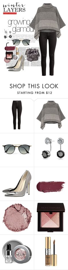 """""""Untitled #355"""" by mink-nppbv ❤ liked on Polyvore featuring Piazza Sempione, Ray-Ban, Bling Jewelry, Chantecaille, Laura Mercier, Stila and Yves Saint Laurent"""