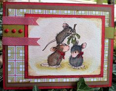 House Mouse Clear Stamps w/new BasicGrey Alpine Frost Recipe Book Holders, House Mouse Stamps, I Love House, Recipe Scrapbook, Create A Family, Call My Mom, Basic Grey, Copics, Mistletoe