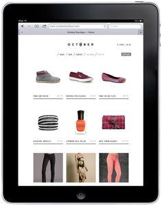 October Boutique - online shop design