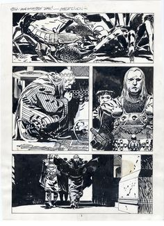 JORGE ZAFFINO-SAVAGE SWORD OF CONAN p.3 Comic Art