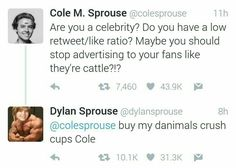 Dylan and cole sprouse for the lulz cole sprouse funny, tumb Cole Sprouse Snapchat, Cole Sprouse Hot, Cole Sprouse Funny, Dylan Sprouse, Dylan O'brien, Dylan And Cole, Phil Lester, Lili Reinhart, Funny Facts