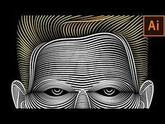 Illustrator Line Art Tutorial   Face Line Art - YouTube