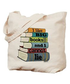 Look what I found on #zulily! Canvas 'I Like Big Books' Tote by CafePress #zulilyfinds