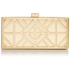 Tory Burch Fret Clutch ($435) ❤ liked on Polyvore