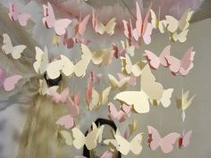 Butterfly Mobile, Diy Butterfly, Girls Room Wall Decor, General Crafts, Ribbon Crafts, Dandy, Craft Ideas, Dandy Style, Diy Ideas