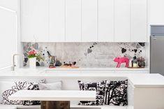 Moderne Küchengestaltung - romantische Küche in Weiß