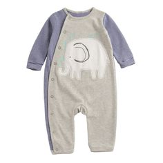 Spring Newborn baby stripe romper elephant animal pattern baby boy clothes soft cotton baby costume top quality rompers