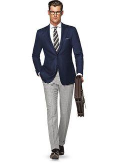 Jacket Blue Herringbone Biella C1020i   Suitsupply Online Store