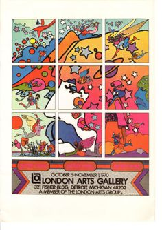 Vintage-Peter-Max-Poster-Print-1960s-Psychedelic-Hippie-London-Arts-Gallery