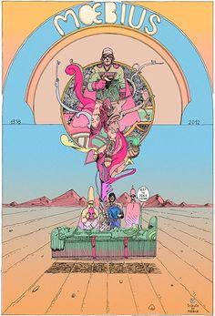 Tribute to #Moebius #comics #illustration