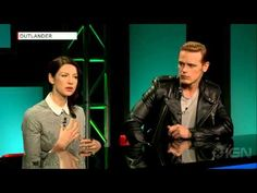 Sam Heughan and Caitriona Balfe Jamie and Claire Fraser Outlander Premiere NYC April 2015 - YouTube