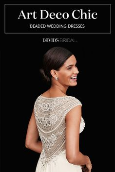 Wedding dresses with this intricate geometric styling give your look an antique-meets-modern vibe.
