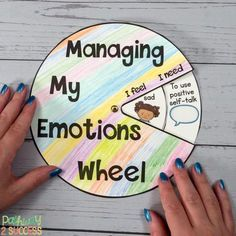 Managing My Emotions Wheel Managing My Emotions Wheel,Heilsames Malen & Kunsttherapie Spend time talking about emotions with kids and young adults. Read up on this and more ways to integrate social emotional learning. Social Emotional Activities, Emotions Activities, Teaching Social Skills, Counseling Activities, School Counseling, Therapy Activities, Learning Activities, Elementary Counseling, Time Activities